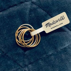 Madewell delicate stacking ring set of 6